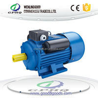YC single phase 100% copper wire 100% output power cast iron body 7.5kw/ 10 hp electric motor
