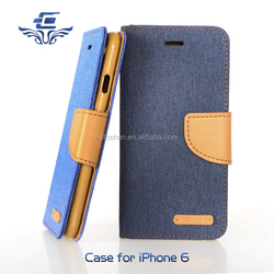2016 new arrival pu leather case wallet cover for apple iphone 6s 4.7 cell accessories