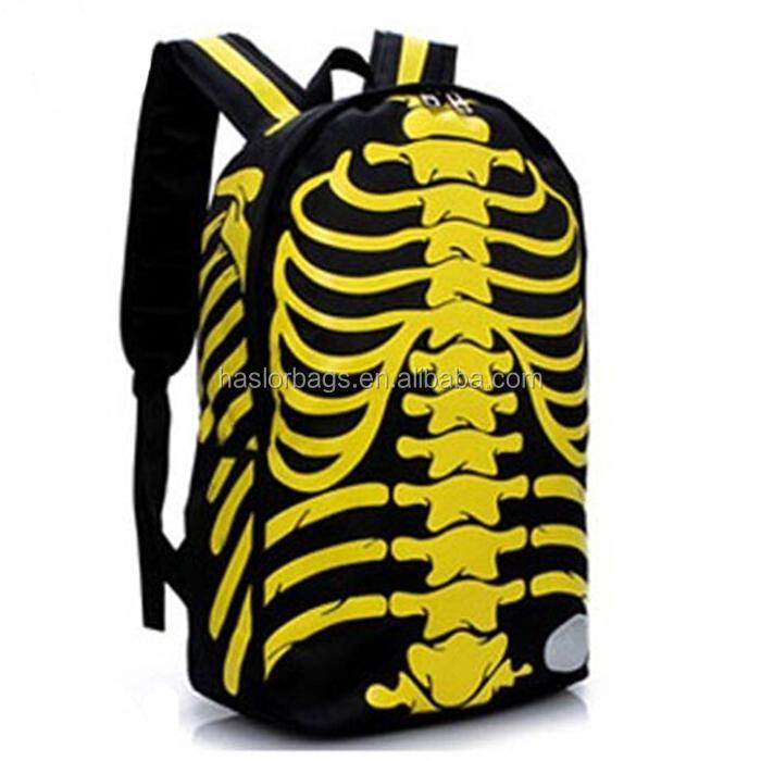Creative design personnalisé personnalisé sac à dos avec squelette