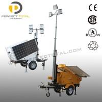 Trailer Mobile Solar Generator Lighting Tower