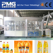 PMG-RCGF12-12-12-4 4-in-1 Plastic bottle Hot Fruit mango Juice filling and bottling machine