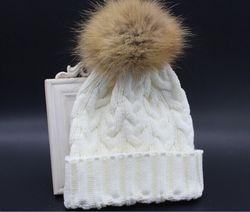 wholesale muslim cap knitting machine / pom pom winter hat