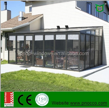 aluminum profile glass sunroom/garden room/warm room made by Factory