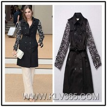 Wholesale Women Black Winter Long Jacket china online shopping