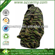 Newest Generation Military 65% Cotton 35% Polyester Ripstop Tiger Stripe Camouflage Combat Uniform Set