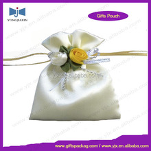 100% polyester small satin pouch with logo print