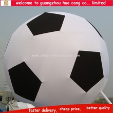 Giant football advertising balloon displaying on ground or roof, decoration Inflatable advertising cold air big balloon