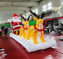 inflatable father decoration Christmas inflatable santa claus and reindeers