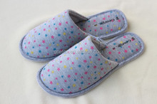 GCE223 Printed jersey Women slippers for circulation with comfort gel slippers and spa slippers wholesale
