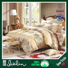 Brand textile cotton lace four piece Korean spring cotton twill White Floral bedding