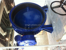 dn300 pn16 good price butterfly valve gear wafer type rubber seal