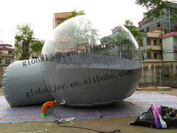 Clear & gray inflatable lawn tent/bubble tent/inflatable lawn tent