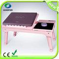 tradizionale multi funzionale tavolo del computer portatile con luce a led con ventola di raffreddamento con hub usb