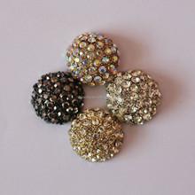 round design wholesale rhinestone hair accessories for jewelry
