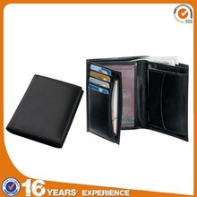 wholesale cheap branded pu fashion men slim genuine leather wallet manufacturer