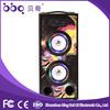 Full black acrylic front panel bluetooth speaker with led light