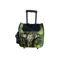 fashion wholesale camo pet carrier bag for dog with wheels