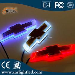 4D Led Custom Car Emblem For CHEVY With Red, Blue, White Logo Light