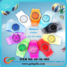 2015 china suppliers unique slap band watch colorful cute children silicone watch kids slap watch