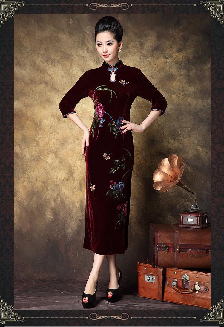 Женское платье 2015 Vestido Cheongsam