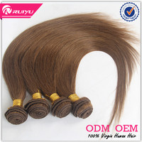 Soft and smooth 6A grade straight dark brown hair color pictures