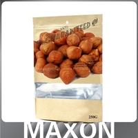 Hot selling flat bottom ziplock side food grade brown paper bag,aluminum foil bag for food,food vacuum plastic bag