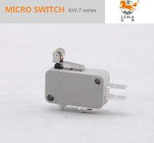 Kw-7-3 ce vde ul aprobación lema electrics spdt na + nc equivalente de los tipos de cerezo micro interruptor 16a