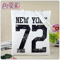 New Eco cheap designers canvas cotton shopping bags ladies beach tote bag