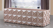 2014 Fashion european style tv unit is used solid wood and E1 MDF board to be finished for the living room furniture