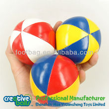 Plastic Beans Filled Toss juggling balls