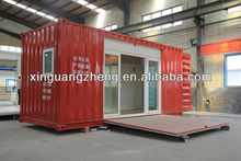 transformed folded shipping container house