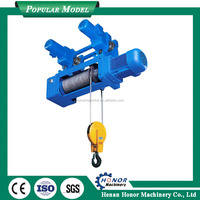 electric hoist 2.5 ton lifting monorail hoist with wire rope