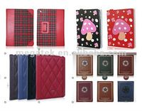 Tablet case cover flower printing Folio leather case for ipad 2 3 4 air mini,for ipad case leather folio , for ipad air case