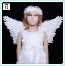 Children Party Costume Small White Angel Feather Wings HPC-0882