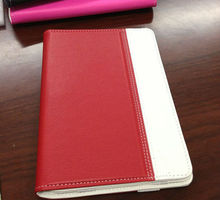 Hot sale PU leather Case for ipad mini with card pocket - red