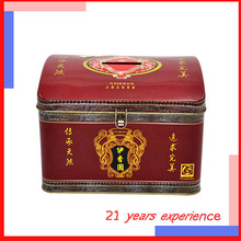 wholesale magnetic special customized upmarket treasure box shaped sanitary pad tin