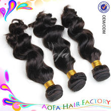 100% double quality virgin body wave indian woman long hair
