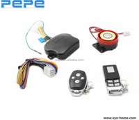 Motorcycle alarm system with engine start, alarm device motorcycle