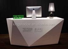 2015 hot sale reception desk white modern reception desk standing reception desk