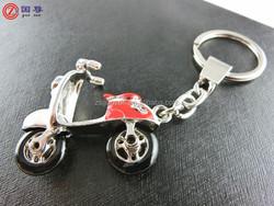 Wholesale motorbike/motorcycle shaped with crystal keychain/ keyring/ key finder