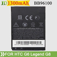 high quality and hot selling BB96100 Battery for HTC A3333 A7272 G7mini Wildfire G8 Legend G6 from junboda