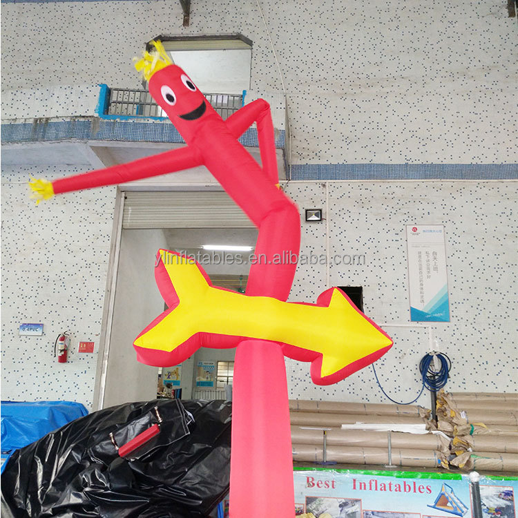 Una pierna sonrisas skydancer 3 M UL bailarín del aire inflable para eventos