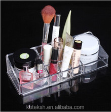 Lipstick Makeup Cosmetic Display Stand holders 9+2 grids clear plastic organizers