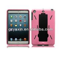 ABS cover for ipad mini protect case / rubber armor for ipad mini kickstand case / OEM available for ipad mini robot case