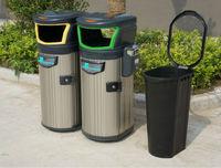 outdoor classify rubbish bin