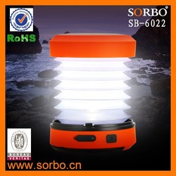 SORBO Multi-function Portable Dynamo LED Camping Light,USB Rechargeable Hand Crank LED Flashing Lantern Light