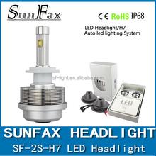 New design led head light ETI chips H7 30W 3600LM 2S LED car headlight