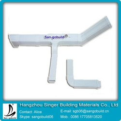 2015 Hot Sale White PVC Rain Gutter And Down Pipes For Platic Profile