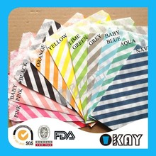 Printed Patter Striped Cheap Paper Bags