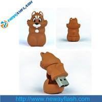 Cartoon squirrel u disk usb flash pen drive